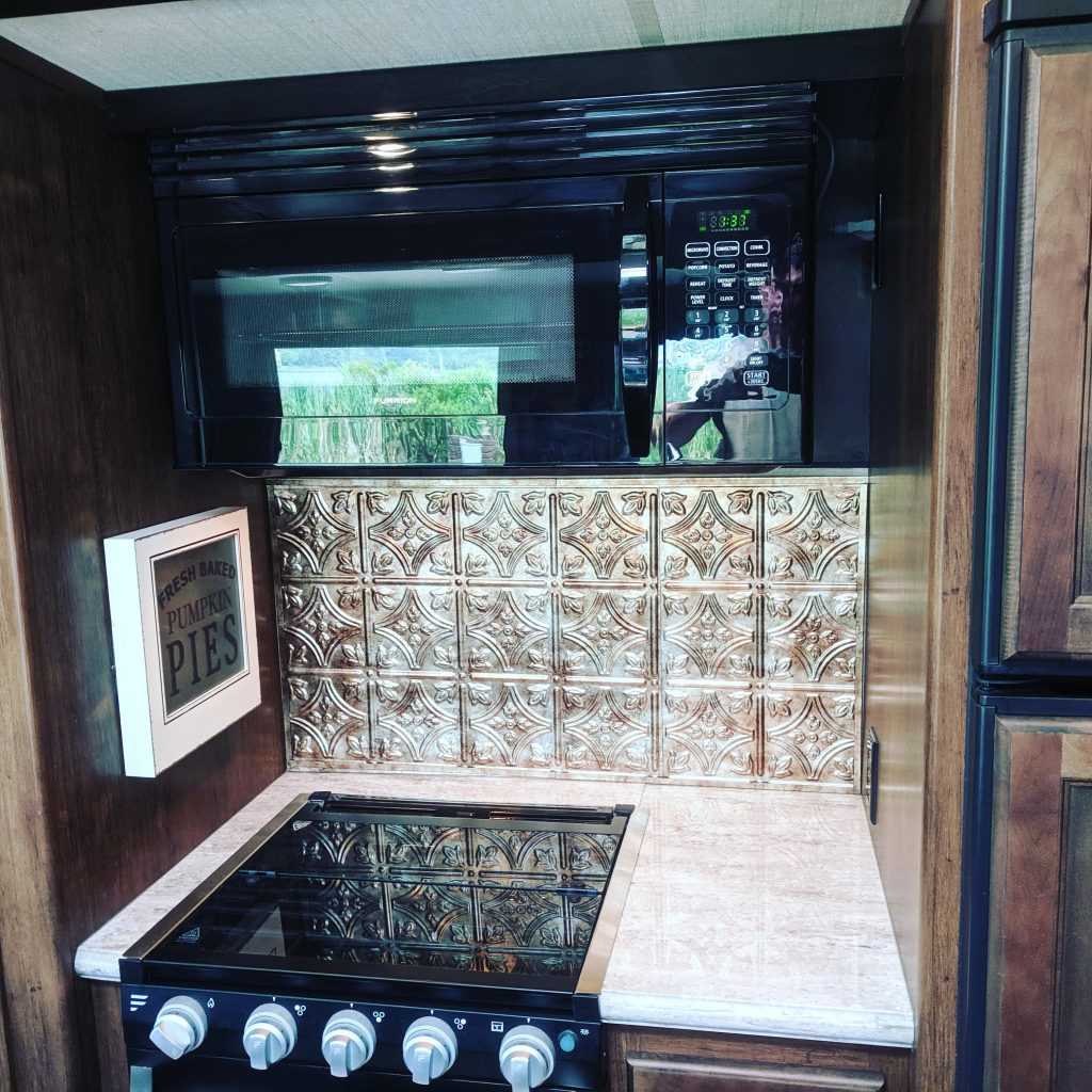 Grand Design Mod Put Up These Faux Tin Tiles From Home